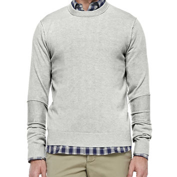 Cashmere Raw-Seam Sweater, Size: