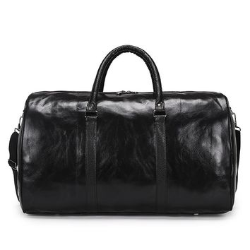 New Leather Overnight Duffle Bag