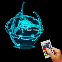 Star Trek USB Wood Base Desk Lamp Deep Space Nine 3D Bubling Night Lamp Color Changing LED Room Decor Light