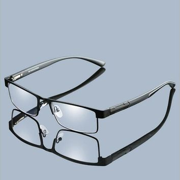 High Quality MEN Titanium alloy Reading Glasses Non spherical 12 Layer Coated lenses reading glasses+1.0 1.5 2.0 2.5 3.0 3.5 4.0