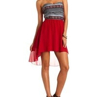 Serape Bust Hi-Low Dress: Charlotte Russe