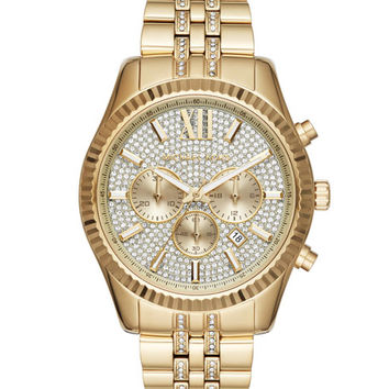 Michael Kors 44mm Lexington Chronograph Glitz Bracelet Watch