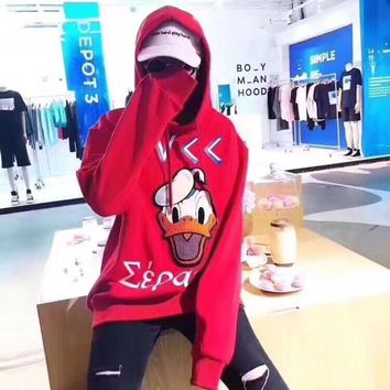 e23aaec4e08 Gucci Women Donald Duck Hot Hoodie Cute Sweater