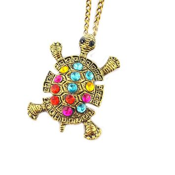 Fashion Turtle Pendant Necklace