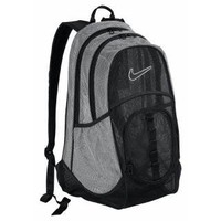 Nike Brasilia 5 XL Mesh Backpack - Black/Matte Silver