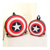 Hot Sale Avengers Captain America Shield Student Backpack Book Bag LS1