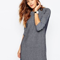 ASOS | ASOS Swing Dress in Rib Knit at ASOS