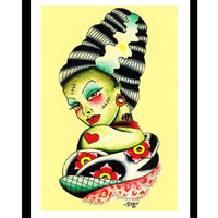Bride of Frankenstein Fine Art Print