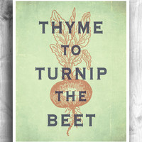 Kitchen Themed Art: Thyme Turnip Beet