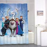 disney frozen special custom shower curtains that will make your bathroom adorable