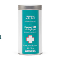 Cold 911 (Organic) Rainbow Tin  - Colourful Storage Tin Packed With Cold 911 (Organic) | DavidsTea