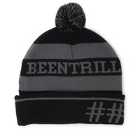 Been Trill Pom Beanie - Mens Hats - Black - One
