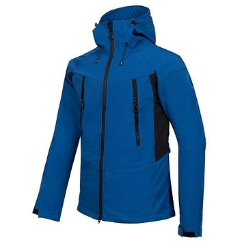 Men's Winter Softshell Fleece Jackets Outdoor Sportswear Coat Hiking Trekking Camping Skiing Male Windbreaker