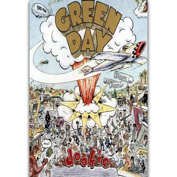 S703 Album Cover Green Day Dookie Rock Band Singer Wall Art Painting Print On Silk Canvas Poster Home Decoration