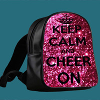 Keep Calm and Cheer On Cheerleading for Backpack / Custom Bag / School Bag / Children Bag / Custom School Bag *