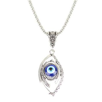 Fashion Jewelry Turkish Evil Eye Necklaces For Men Moon Necklace ed661bd446