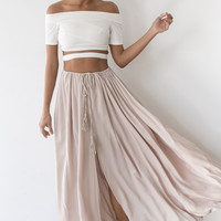 Low and Behold Crop Top White