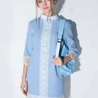 Powder blue collar dress