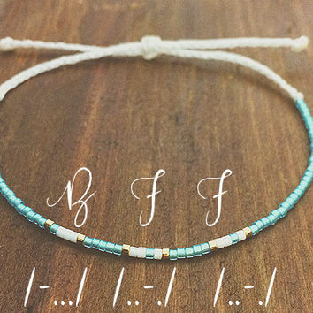 BFF Morse Code Friendship Bracelet - Best Friend Gift - Beaded Bracelet - Best Friend Bracelet - Best Friend Forever - Best Friend Birthday