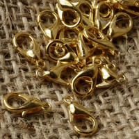Gold Claw Clasps 12 x 6mm Jewellery Findings Jewellery Making diyforstyle