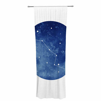 "Chelsea Victoria ""Ursa Major"" Blue Celestial Decorative Sheer Curtain"
