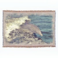 Cute Jumping Dolphin Watercolor Art Painting