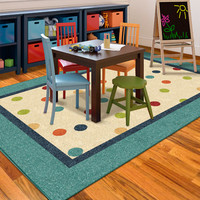 Walmart: Orian Polka Teal Fun Kids' Area Rug