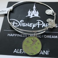 Disney Parks Tinker Bell Happy Thoughts Alex and Ani Charm Silver Finish New