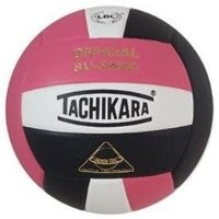Tachikara SV5WSC Sensi-Tec composite, colorful high performance volleyball pink/white/black)