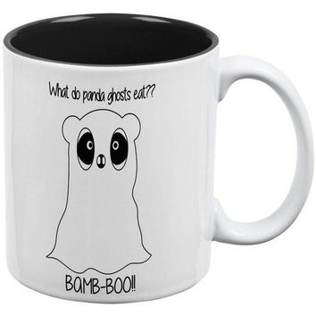 CREYCY8 Halloween Panda Ghost Pun Black Text All Over Coffee Mug