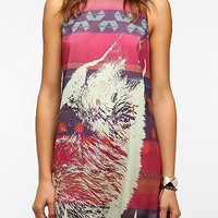 Sparkle & Fade Silky Wolf-Print Dress