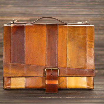 fullgive custom leather messenger bag //strappy