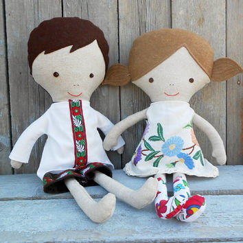 FABRIC DOLLS, folk dolls, ragdolls, cloth dolls, pair doll, 18inch doll, dress up doll, twin doll, ethnic dolls, soft toy, soft doll, dolls