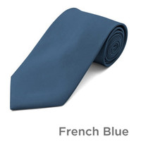 French Blue Wedding Tie and Hanky Set