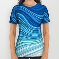 WAVES All Over Print Shirt by LEMAT WORKS
