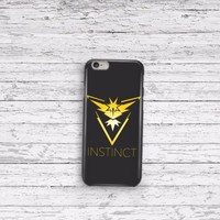 Pokemon Go Team Instinct iPhone 5 5c 6 6plus and Samsung Galaxy S5 Case