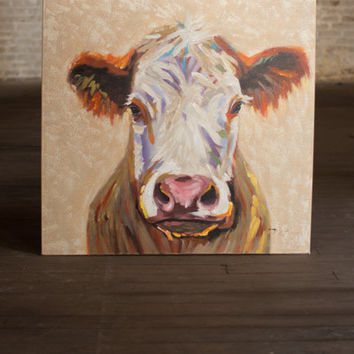Happy Cow Canvas Art