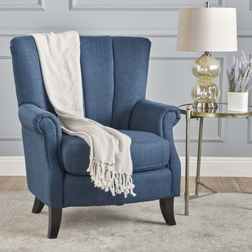 Ezra Classic Fabric Club Chair