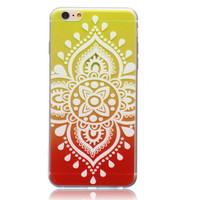 Unique Ornage Hollow Out Case Cover for iPhone 5s 5se 6s Plus Free Gift Box 44