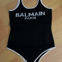 Balmain Strap Women Fashion Backless One Piece Swimwear Bikini Swimsuit