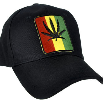 Rastafarian Pot Leaf Hat Baseball Cap Alternative Clothing Bob Marley