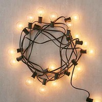 Black Corded Globe String Lights