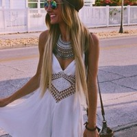 Dreamy Romper in White