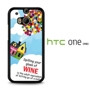 Up And Go Balloon House Y2715 HTC One M8  Case