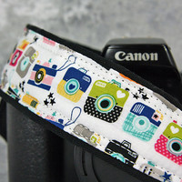 dSLR Camera Strap, Retro Cameras, With/Without Pocket, Camera Neck Strap, SLR, Quick Release or Plain ends, Canon, Nikon, 201 ww