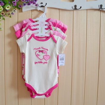 5pcs/lot Baby Bodysuits 100% Cotton Baby Boys Girls Clothing Baby Clothes Baby Wear Conjoined Clothes
