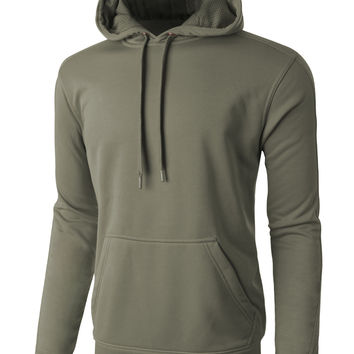 LE3NO PREMIUM Mens Waterproof Sports Running Pullover Hoodie Sweatshirt
