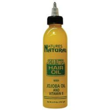 NATURES NATURAL SHEA BUTTER HAIR OIL W/ JOJOBA OIL AND VITAMIN E 6 OZ
