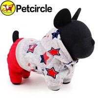 petcircle new arrivals pet dog clothes lucky star dog winter coat small and large dog hoodies for chihuahua yorkshire size XXS-L