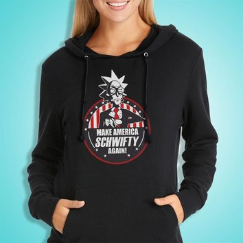 Make America Schwifty Again Rick And Morty President 2020 Rick And Morty Inspired Film Movie Cartoon 90S Women'S Hoodie